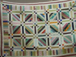 May 2014, charity quilt made by Judy Graham from our guild stash.